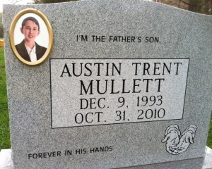 Our son, Austin's grave marker
