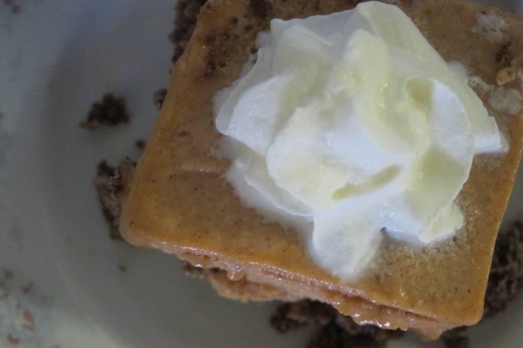Pumpkin Ice Cream Dessert (THM-S, Sugar, Gluten, and Dairy Free)