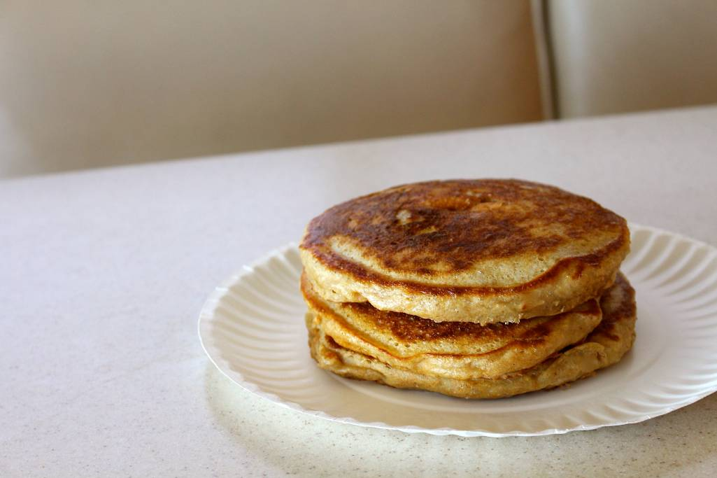 Fluffy Sourdough Pancakes (THM-E)